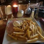 Ham, egg and chips at the Black Pig