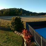 View over pool and paddock
