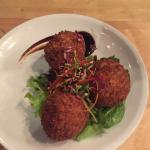 Daily Special - Asian Arancini filled with Beef Filet and a side of Hoisen sauce