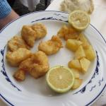 Bacalao and potatoes