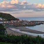 Scarborough Bay at evening.