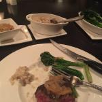 Wonderful dinner--filet, risotto and broccolini