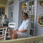 Husband Relaxing on front porch At Murray!!
