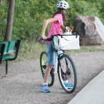 Bicycle outing for children and pets along the Animas River Trail