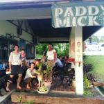 Friends and pets at Paddy Mick's