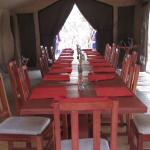 Dining tent - sit down lunch/dinner served daily. Breakfast was set up on the morning game drive
