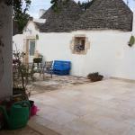 View of trullo from our breakfast table