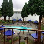 View of the pool area and the Columbia River