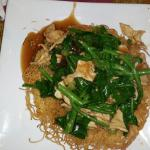 Chicken pan fried noodles
