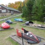 Some historic bobsleds