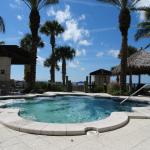 The largest jacuzzi at the beach club - up to 34 people - a bit too hot.