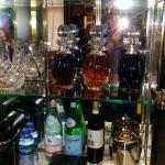 Mini-bar, Penthouse Suite. Decanters of sweet sherry, dry sherry and port :)