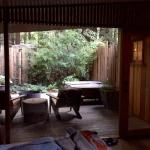 Big Sur Cabin - view of patio off bedroom