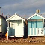 Beach huts on the sea front