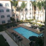 View of the pool area from the room