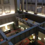 View from 3rd floor down into lobby