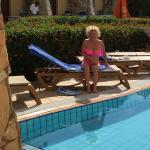 Longers by the pool
