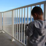 My son in the Balcony