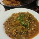 Crawfish etouffe Not bad.. just needed salt and the celery was still crunchy