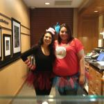 Alexis & Julie 2 of our wonderful front desk staff :) happy Halloween!