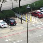 Valet person blocking off a spot near the hotel