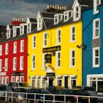 A jewel on a colourful seafront - the MIshnish Hotel.