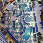 View of the pool from the 16th floor.