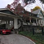 Beautiful old home and they really decorate big for Halloween!