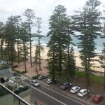 View of manly beach from our room