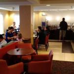 Large breakfast area with great selection