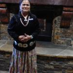 Sheila in her native Navajo clothing