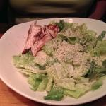 Caesar salad with grilled chicken (we requested no croutons)