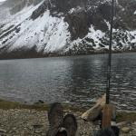 fishing at a nearby lake in Tioga pass