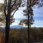 Grandfather Mtn from our room's terrace!