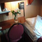 Room on arrival with welcome flowers