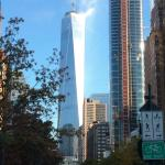 Freedom Tower, view right outside of hotel.