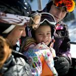 Family on the chairlift