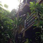 9 flights of stairs to get in or out of resort