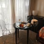 Eating area of the room