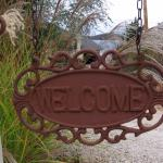 The Welcome Sign at B & B Entrance