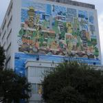 Mural on the Hotel Tower