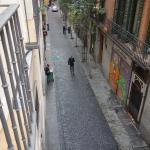 View down Calle Echegaray from room 205