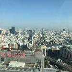 View from window - on the 35th floor you are above most of Tokyo