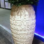 Welcome / Välkommen / Etcetera  (vase at main hotel entrance)