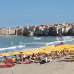 the beach at Cefalu'