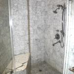 The large marbled shower
