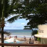 View from the pool to the beach
