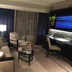 View of living area when walking into Premiere Executive Suite
