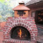 One of the many fire pits on the patio