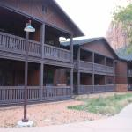 Outside view of the Zion lodge